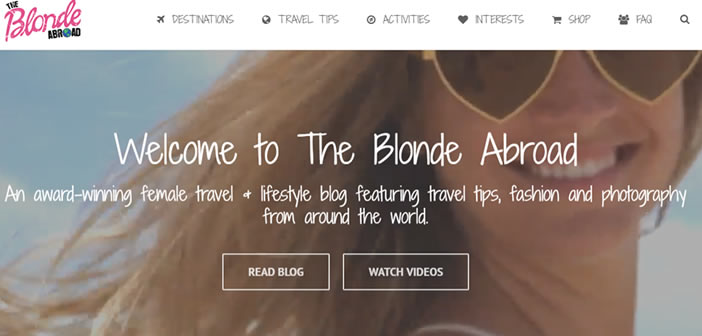 The Blonde Abroad travel blog